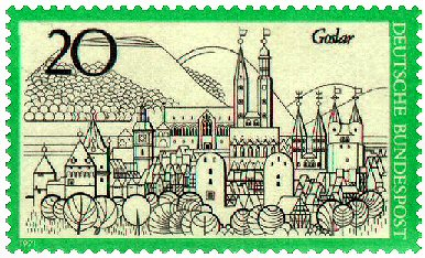 Goslar Briefmarke 1971
